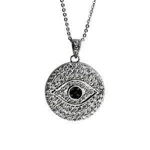 Jewelry - Pave evil Eye pendant necklace